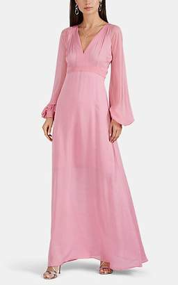 By Ti Mo byTiMo Women's Striped Georgette V-Neck Maxi Dress - Pink