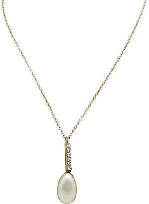 One Kings Lane Vintage Teardrop Faux-Pearl Necklace - Thanks for the Memories