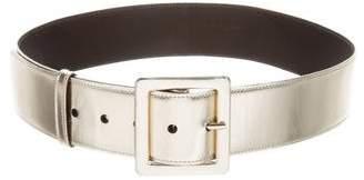 Saint Laurent Metallic Leather Belt