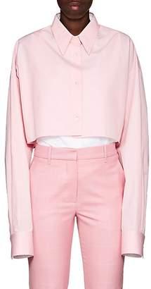 Calvin Klein Women's Layered Cotton Poplin Tunic Blouse - Pink