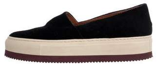 Dries Van Noten Velvet Platform Sneakers