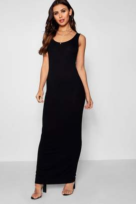 boohoo Petite Scoop Neck Maxi Dress