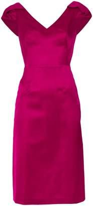Tufi Duek panelled V-neck dress