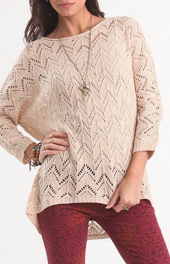 Kirra Dolman Open Knit Sweater