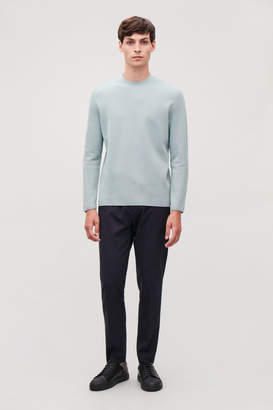 Cos MOCK-NECK KNITTED JUMPER