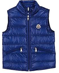 Moncler Kids' Gui Down-Quilted Vest-Blue