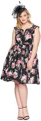 Unique Vintage Plus Size Olive Swing Dress Women's Dress