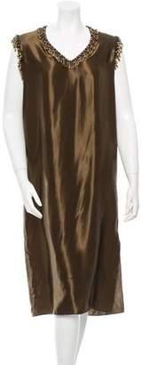 Lanvin Embellished Midi Dress