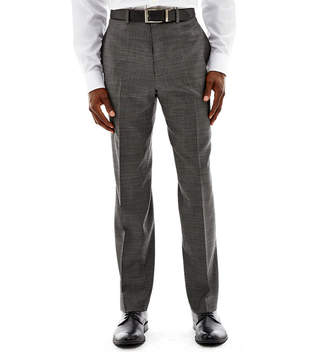 Claiborne Black & White Nailhead Flat-Front Suit Pants - Classic Fit