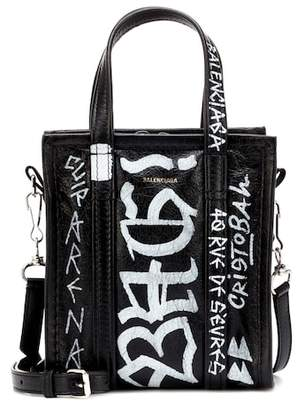 Balenciaga Graffiti Bazar XXS leather shopper