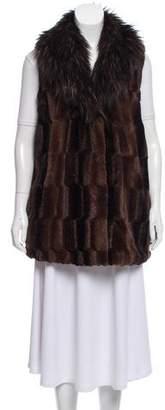 Adrienne Landau Faux Fur Shawl Collar Vest