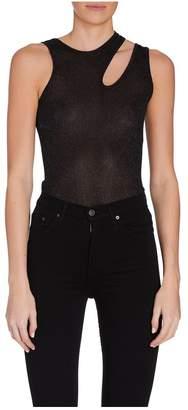 Alix Astor Black Glitter Bodysuit