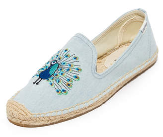 Soludos Peacock Smoking Slippers $65 thestylecure.com