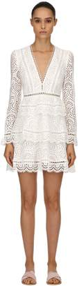 Zimmermann Tiered Cotton Eyelet Lace Mini Dress