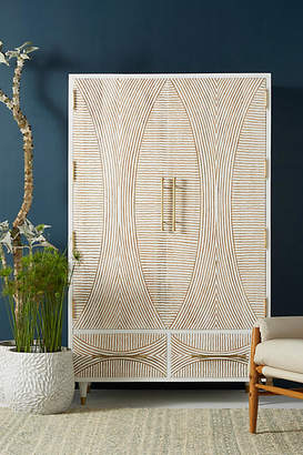 Anthropologie Carved Thalia Armoire