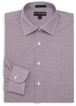 Saks Fifth Avenue Slim-Fit Micro Checker Print Dress Shirt