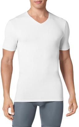 Tommy John 'Cool Cotton' High V-Neck Undershirt $40 thestylecure.com