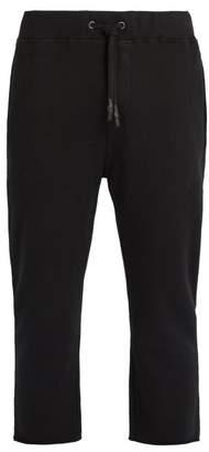 The Upside Om Cropped Cotton Track Pants - Mens - Black