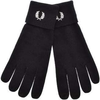 Fred Perry Marino Wool Touch Screen Gloves Navy