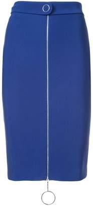 Thierry Mugler zipper pencil skirt