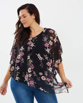 Floral Overlay Blouse