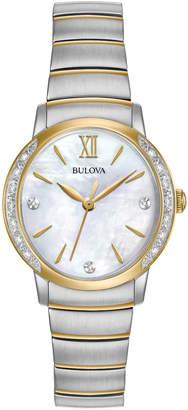 Bulova 28mm Two-Tone Bracelet Watch with Diamonds