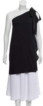 Zero Maria Cornejo Tie-Accented One-Shoulder Tunic w/ Tags