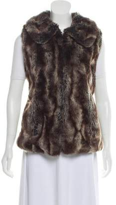 Rachel Zoe Faux Fur Shawl Collar Vest