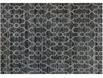 Aga John Oriental Rugs Black And Silver Interlock Pattern Rug Aga John Oriental Rugs
