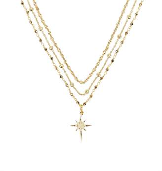 ela rae Layered Chain Starburst Necklace