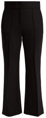 Joseph Ridge Mid Rise Cropped Trousers - Womens - Black