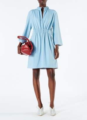 Tibi Weston Knit Mini Shirred Dress