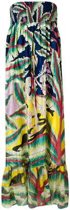 Tsumori Chisato print strapless maxi dress