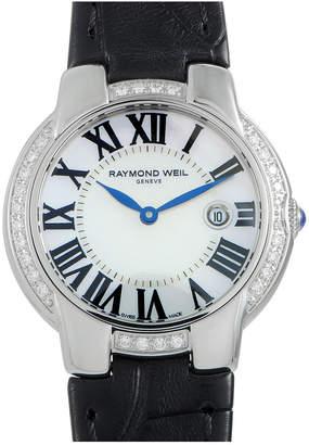 Raymond Weil Women's Leather Diamond Watch
