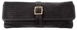 Rachel Zoe Woven Leather Clutch