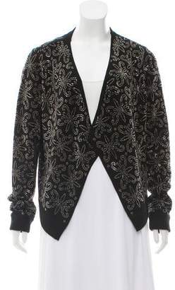 Alice + Olivia Embelished Open-Front Jacket w/ Tags