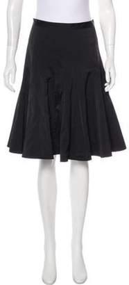 Marc Jacobs Pleated Knee-Length Skirt Black Pleated Knee-Length Skirt