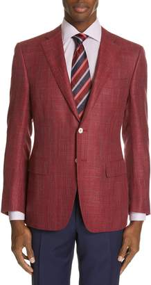 Canali Siena Classic Fit Wool, Silk & Linen Blend Sport Coat