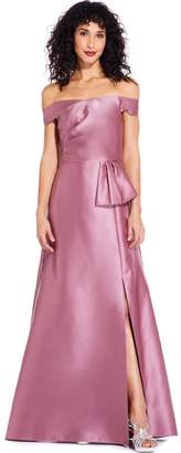Adrianna Papell Rose Mikado Maxi Dress
