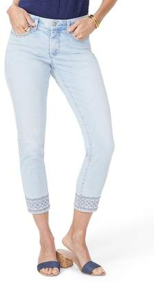 NYDJ Ami Embroidered Border Ankle Skinny Jeans (Palm Desert)