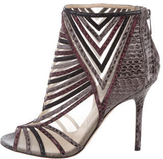 Jimmy Choo Jimmy Choo Mesh Snakeskin Booties