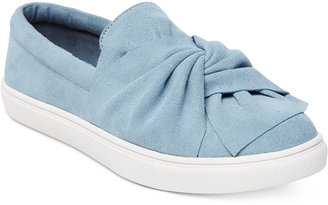 Steve Madden Women's Knotty Bow Flatform Sneakers $89 thestylecure.com