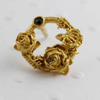 c372851dd Lee Renee Black Diamond Rose Halo Lapel Pin