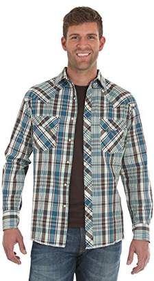 Wrangler Men's Western Fashion Two Pocket Long Sleeve Snap Shirt