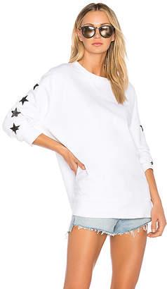 Monrow Foil Stars Oversized Sweatshirt
