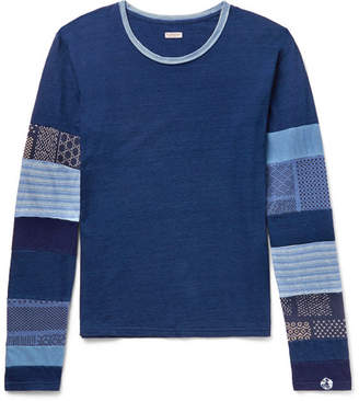 KAPITAL Patchwork Slub Cotton-Jersey T-Shirt