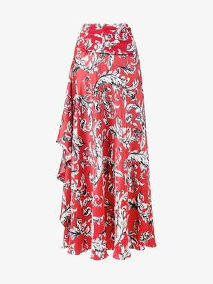 J.W.Anderson asymmetric draped maxi-skirt