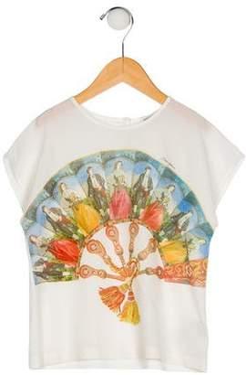 Dolce & Gabbana Girls' Silk-Blend Top