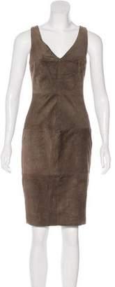 Bailey 44 Sleeveless Suede-Paneled Dress