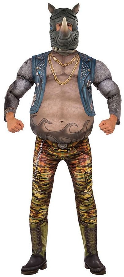 Adult Teenage Mutant Ninja Turtles: Out of the Shadows Rocksteady Deluxe Costume